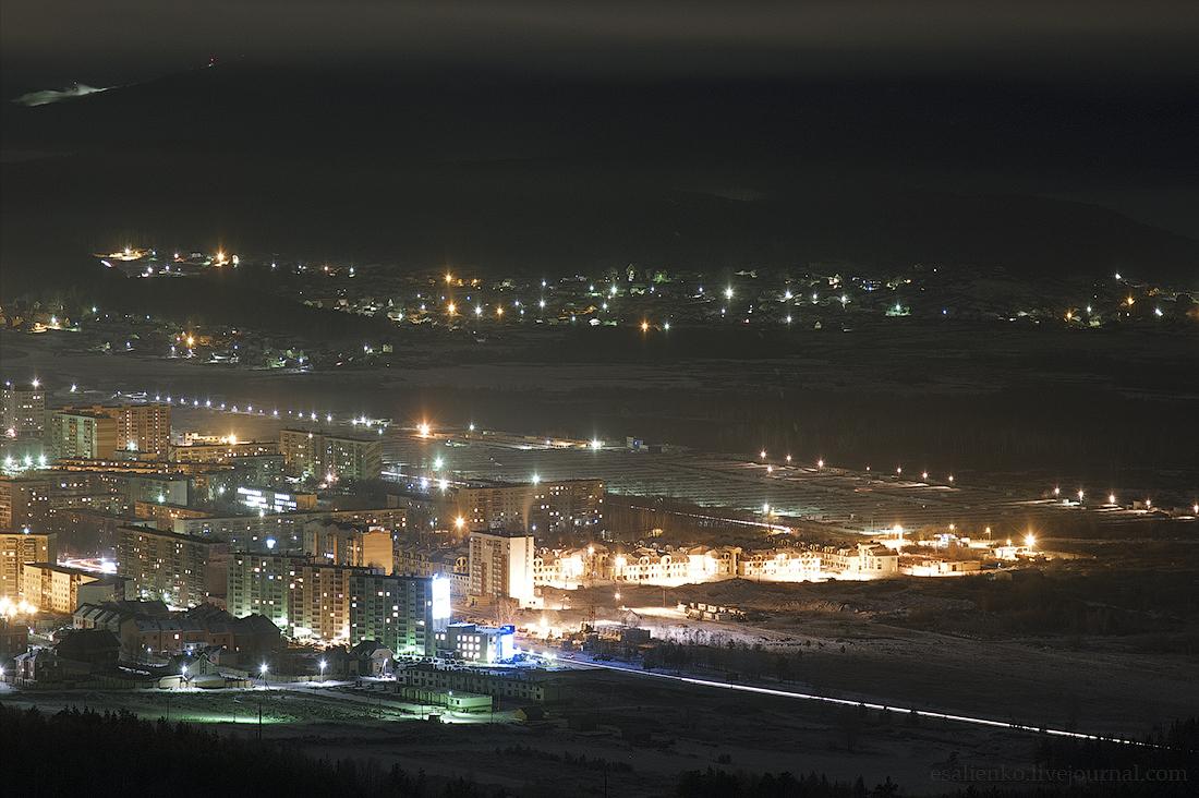 Фото ночной миасс зимой