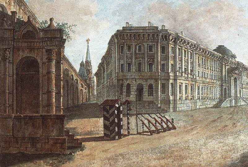 Вид на здание Сената и караульню у Никольских ворот.jpg