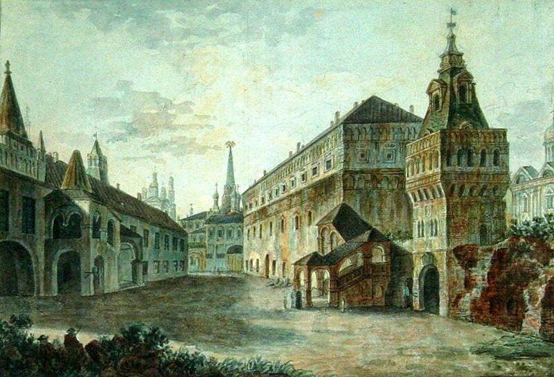 Дворцовые приказы (Поваренный дворец) располагались в корпусах, стоявших вдоль западной границы Государева двора.