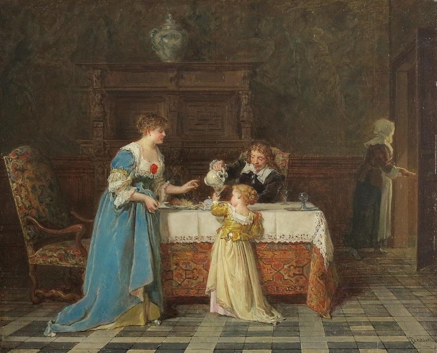 Antoine Émile PLASSAN (Bordeaux, 1817 – Paris, 1903) Le déjeuner Huile sur panneau.jpg