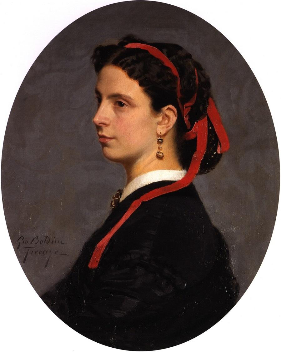 1864-1865 Портрет Лилии Монти, урожд  графиня Маньони (Ritratto di Lilia Monti nata contessa Magnoni) Феррара, Музей Болдини.jpg