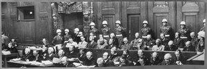 Главные военные преступники на скамье подсудимых
