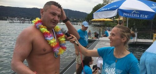 Ион Лазаренко переплыл пролив Каталина