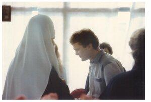 1990 год. патриарх Алексий ll и Александр Николаевич Рябов.