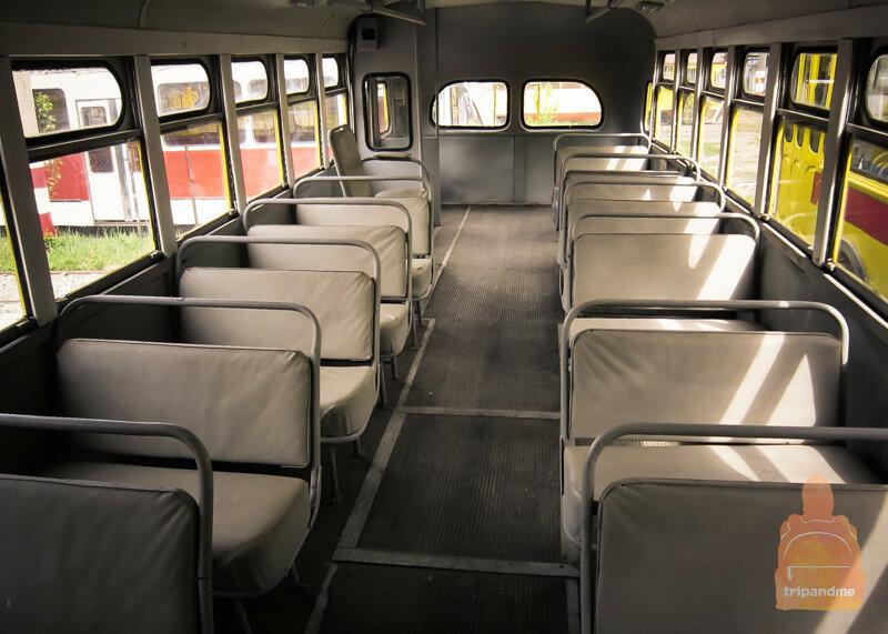 Салон советского троллейбуса