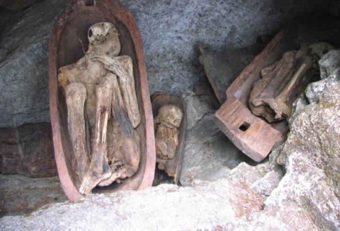 После того, как тело покойника полностью избавлялось от влаги, его натирали ароматными травами и пом