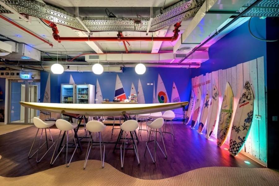 15. Сотрудники фирмы сами решают, где именно проводить свои креативные встречи: на кожаном диване по