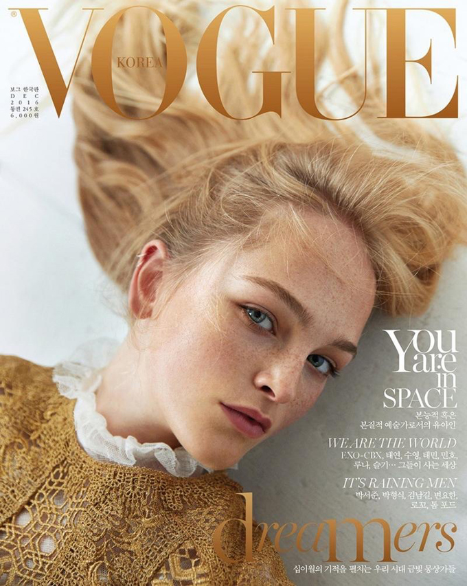 Джин Кэмпбелл на обложке Vogue Korea