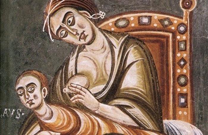 Особенности кормления грудью Бартоломеус Меттлингер в своей «Книге о детях» 1473 года настоятельно н