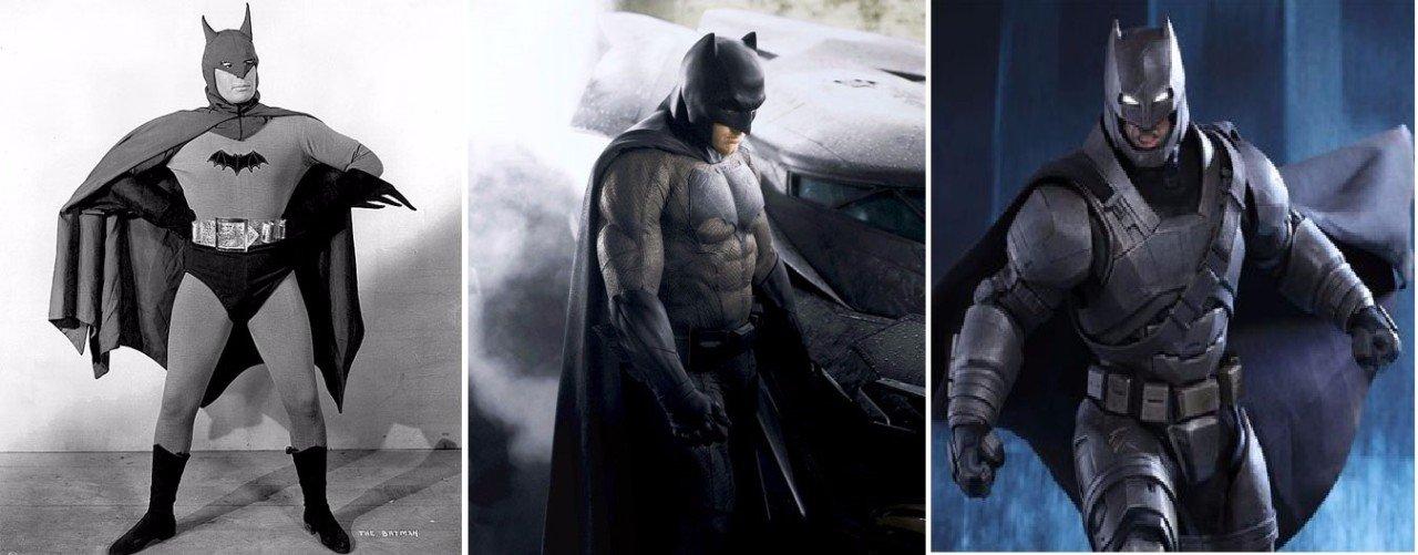Как эволюционировали персонажи супергеройских фильмов за время своего существования (10 фото)