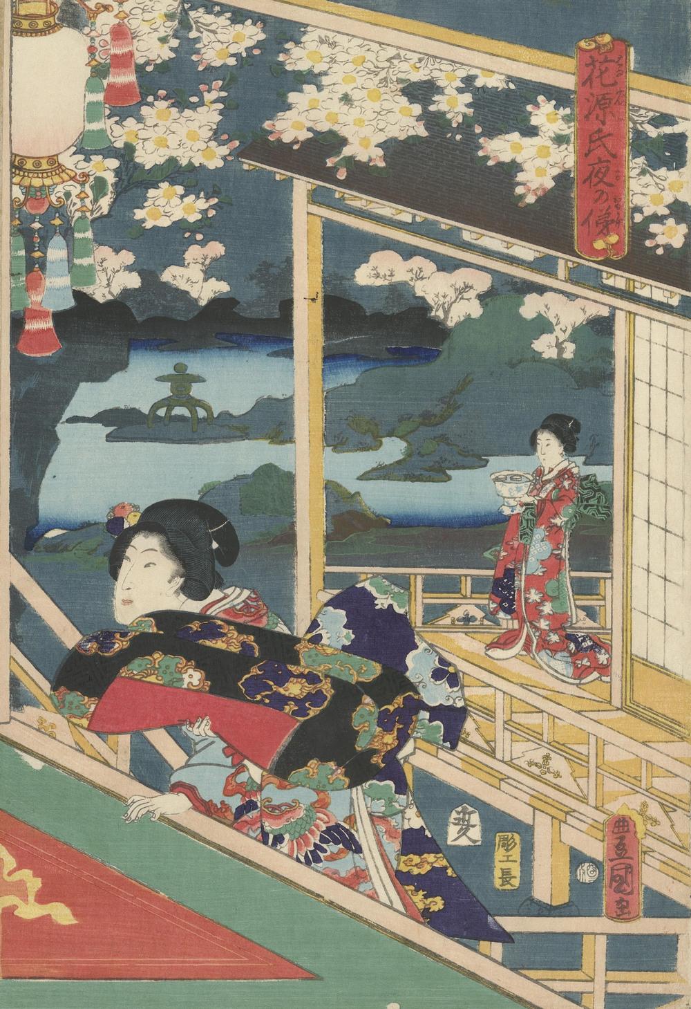 Гравюры укиё-э относятся к разновидности ксилографии. Они кропотливо создавались и процветали с 17 п