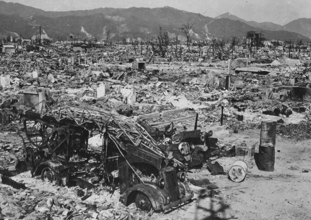 19. Пожарное отделение Хиросимы потеряло свой единственный автомобиль, когда западная станция была у
