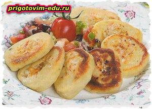 Картофельные рулеты с квашеной капустой