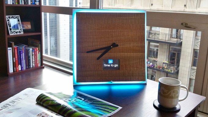 Minimalist Wooden Smart Clock