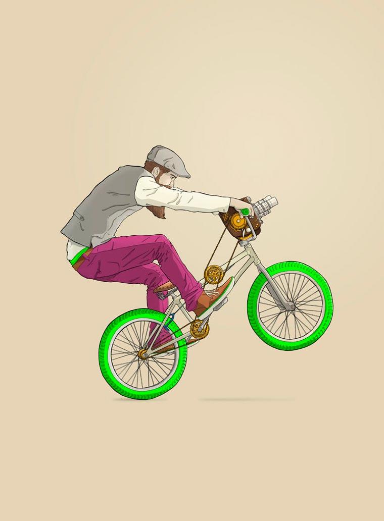 Les etranges concepts de velos de l'illustrateur Ibai Eizaguirre Sardon