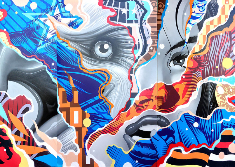 Mixed Media Portrait Paintings by Tristan Eaton (12 pics)