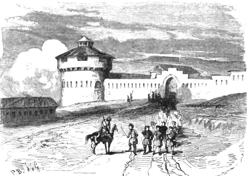 Назрановская крепость, рисунок 1859 года