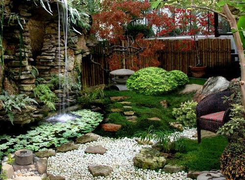 Ландшафт сада в японском стиле