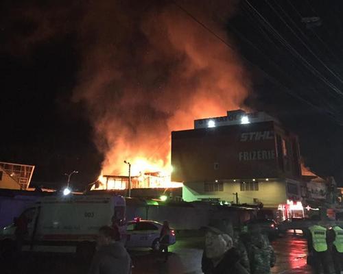 Кишинёв в дыму - сильный пожар в районе центрального рынка