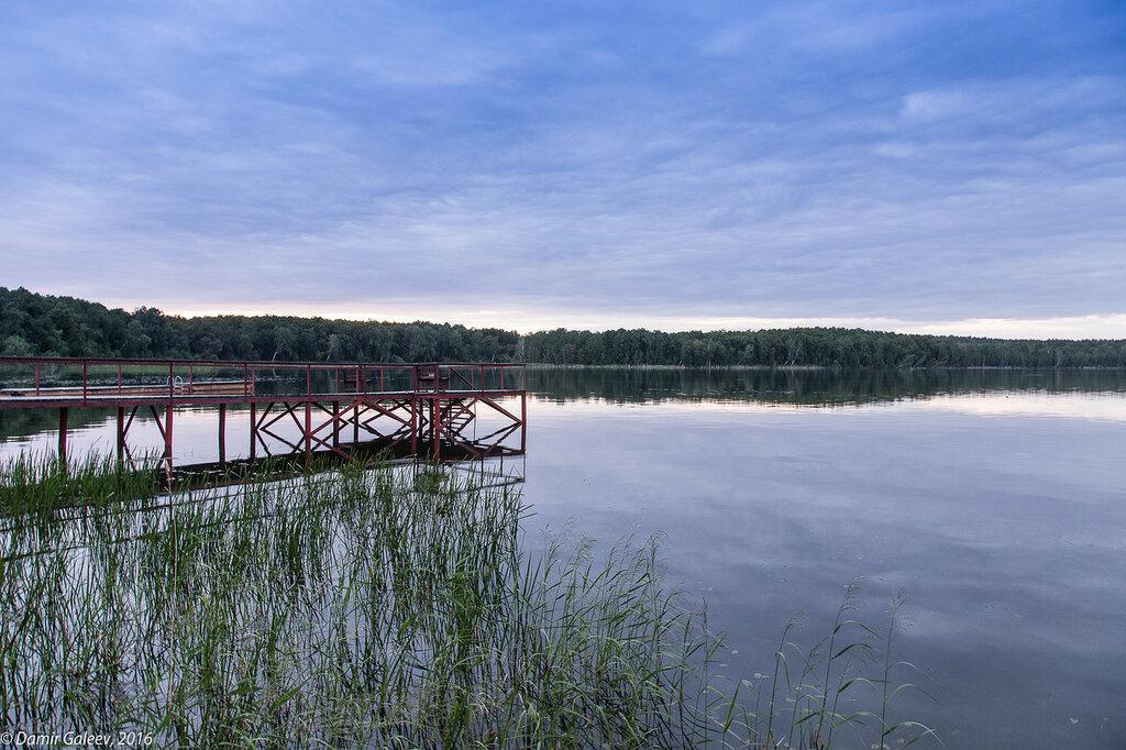 Закат на озере Увильды 17 июня 2016 г