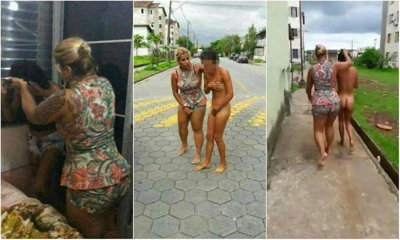 Разъяренная жена провела голышом любовницу мужа по улицам Сан-Паулу