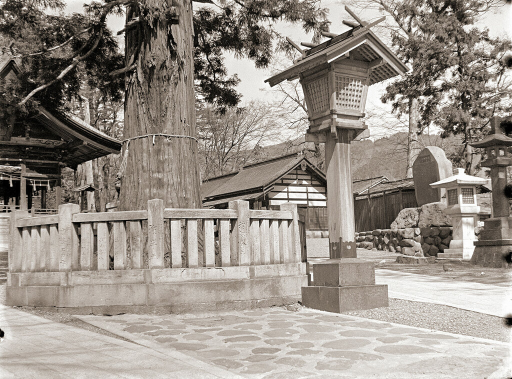 Wooden Structure of Japanese Shrine, 1930s.
