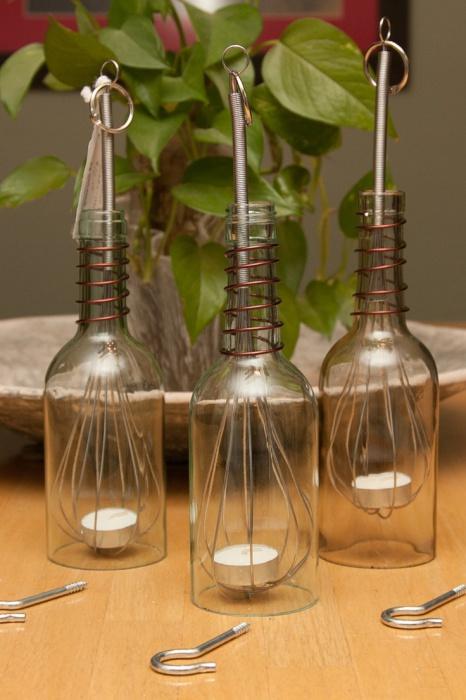 3. Маленькие светильники из подручных материалов