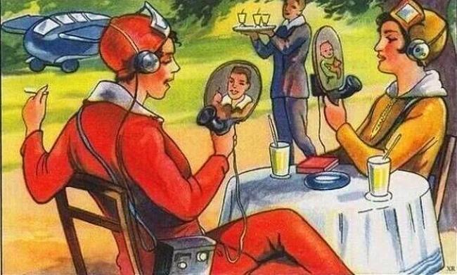 Будущие технологии в представлении французских иллюстраторов в 1924 году.