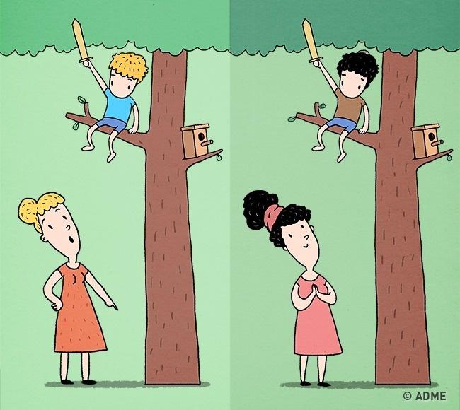 Обычные родители вполне могут устать только отодного наблюдения заеврейскими детьми. Весь день они