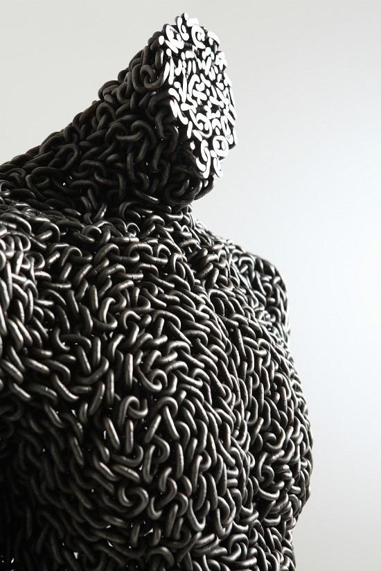 Korean artist Yeong-Deok Seo creates imposing figurative sculptures using tightly knit configuration