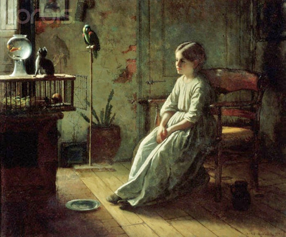 5  Jonathan Eastman Johnson (1824-1906)  Girl and Pets  1856.jpg