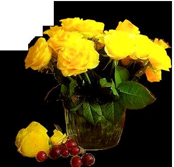 flores en los floreros