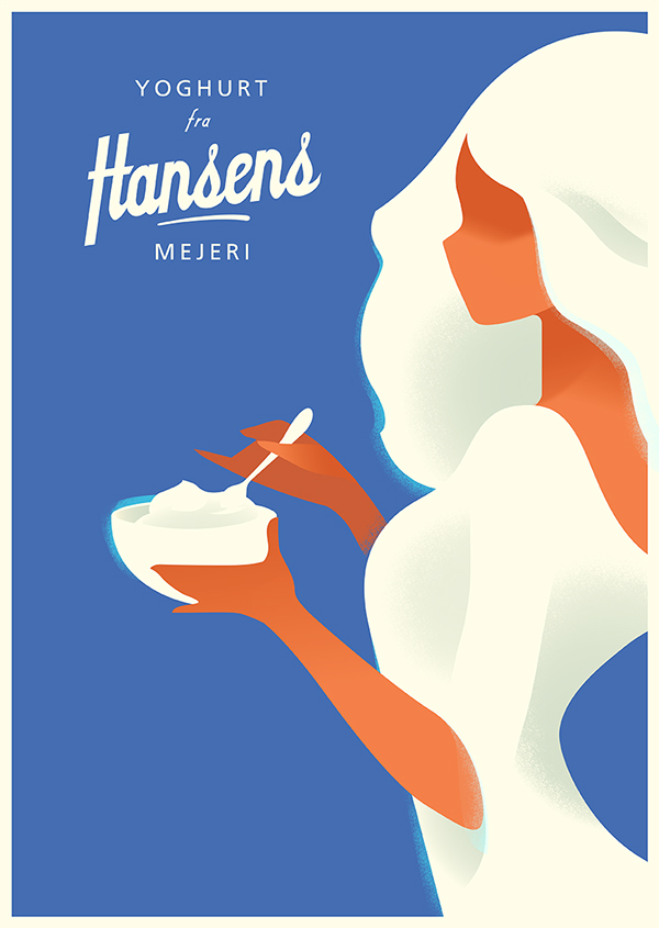 Attractive Editorial Illustrated Posters by Mads Berg