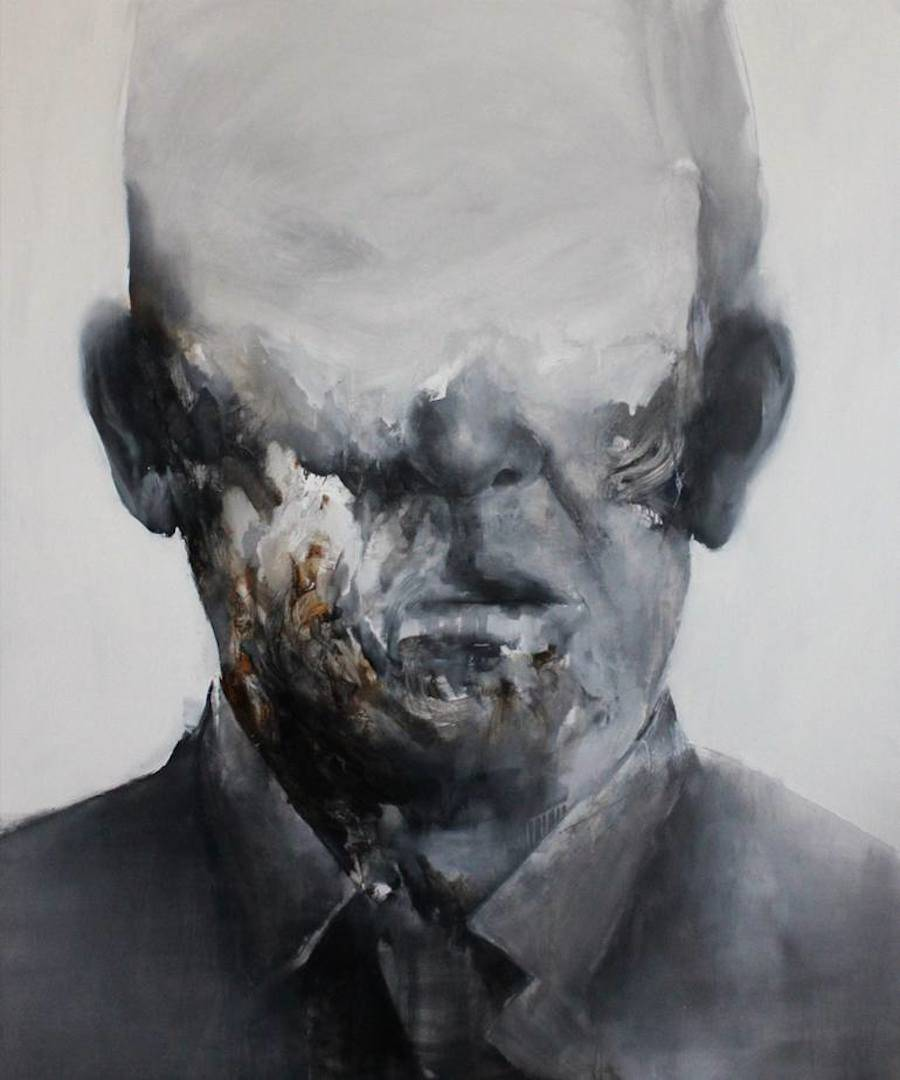 Dark Portraits Paintings Losing Their Identity