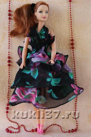 платье для Барби из шифона
