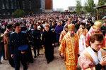 Крестный ход от Крестовоздвиженского собора к месту строительства Кафедрального собора Христа Спасителя.