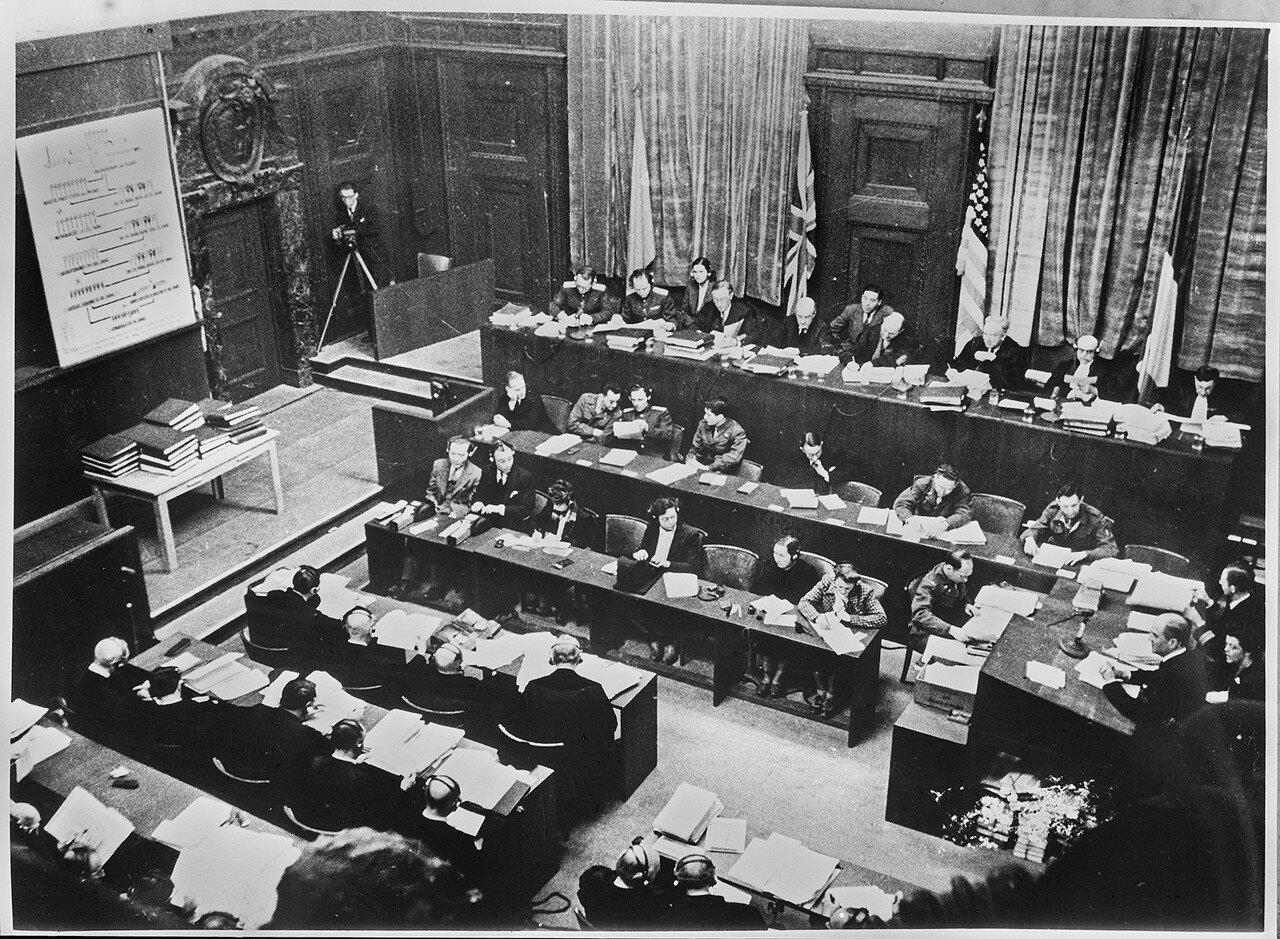 Международный военный трибунал в конференц-зале Дворца правосудия