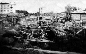 Челябинск. Закладка фундамента при строительстве общежития педагогического института и педтехникума. 1935