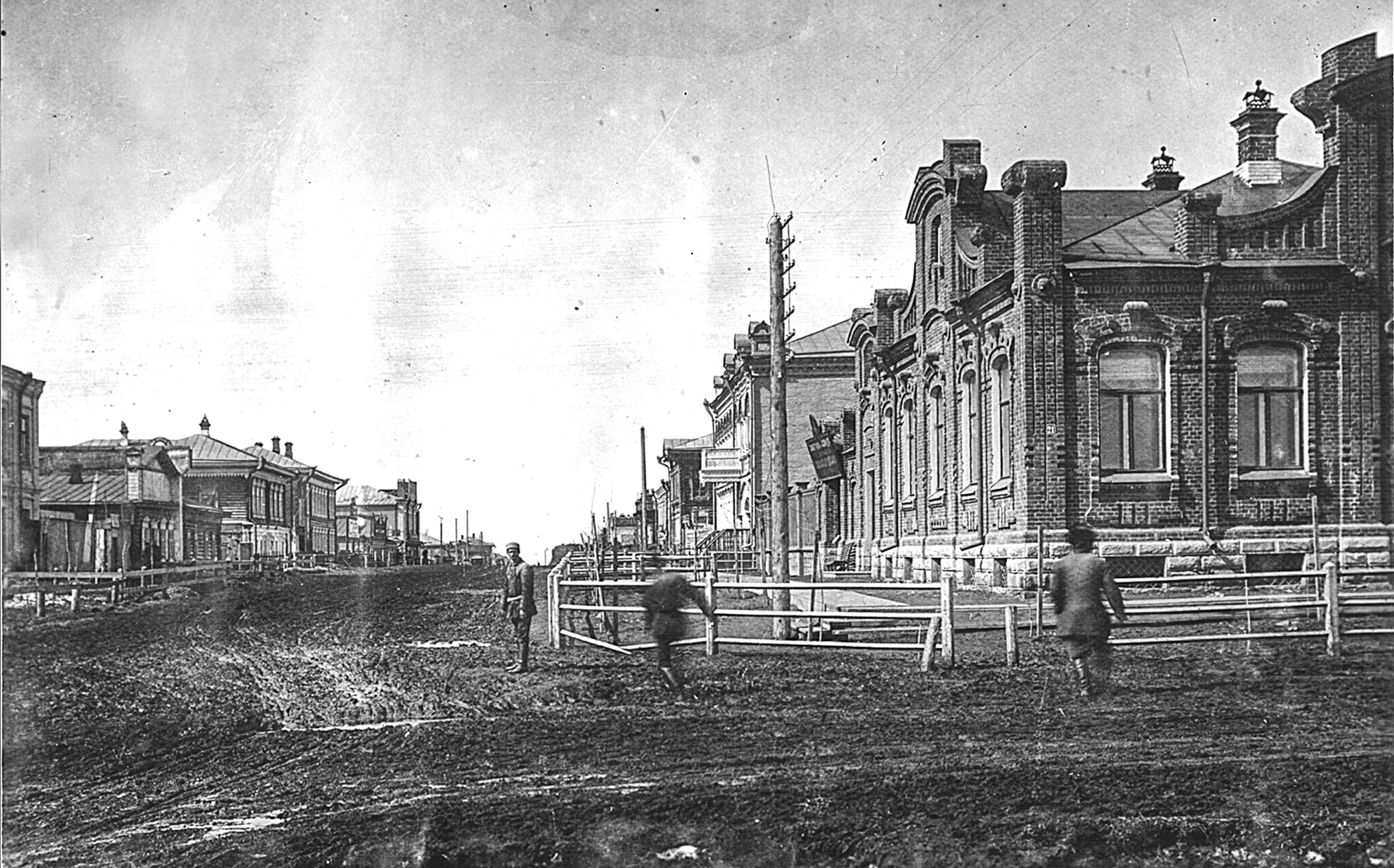 Дом Ивана Филипповича Ларина на углу улиц Гудимовской и Александровской