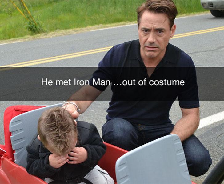 «Он встретил Железного человека… без костюма».