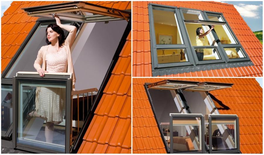 1. Окно-балкон Благодаря оригинальной конструкции, эти мансардные окна можно с легкостью превратить