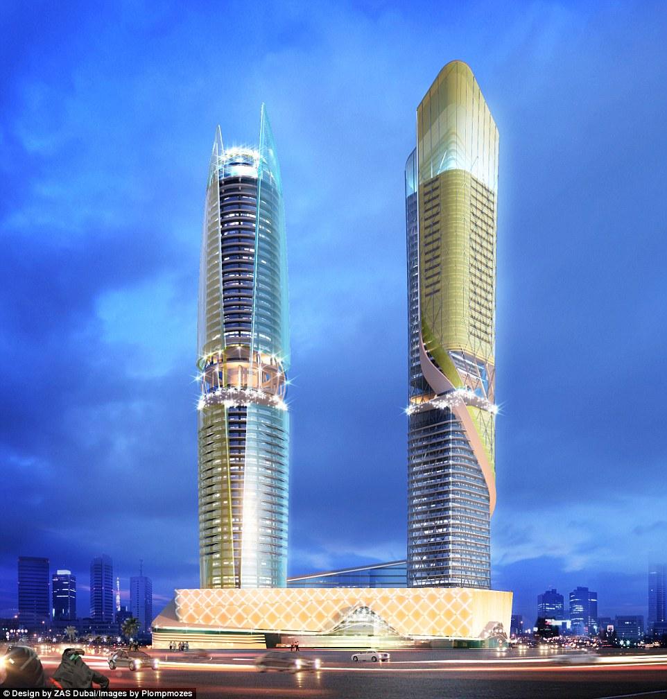 В отеле будет 450 номеров и апартаментов в башне с лобби на 26-м этаже, бассейном на крыше, который
