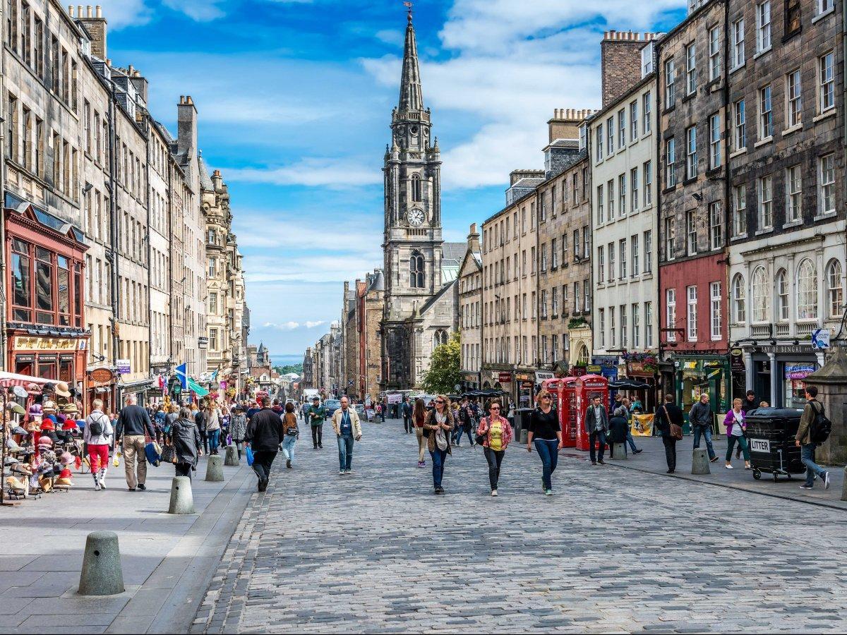 7. Королевская миля — самая знаменитая череда улиц в центре Эдинбурга.