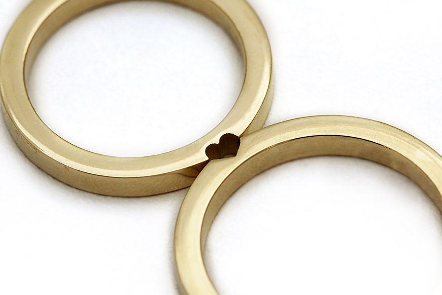 Обручальные кольца, которые становятся одним целым (7 фото)