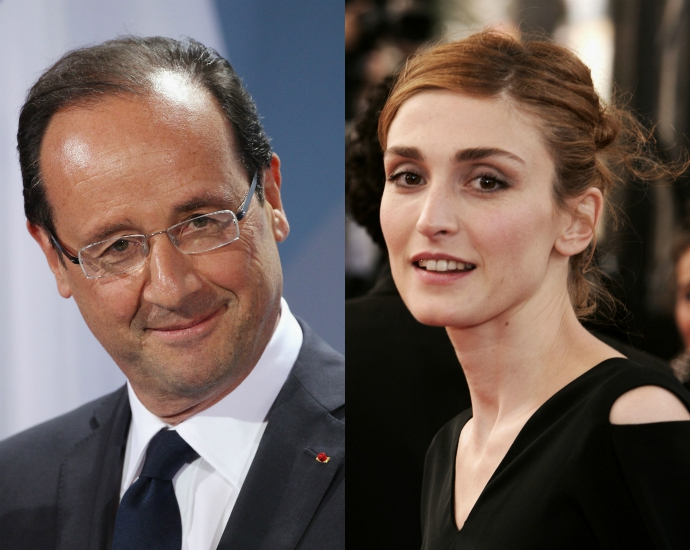 5. Франсуа Олланд и Жюли Гайе Об этом романе французского президента и актрисы Жюли Гайе долгое врем