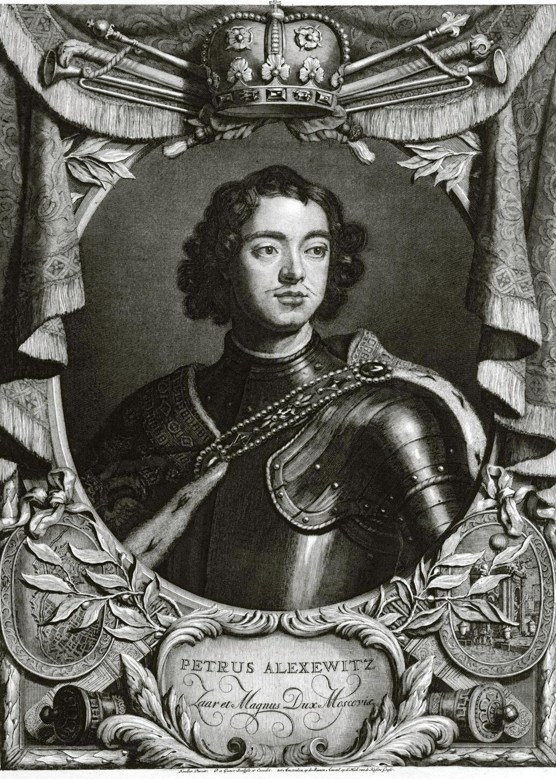 100. Портрет Петра I Кнеллера