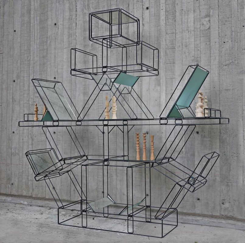 Totem: Wire Shelving System by Edgar Orlaineta