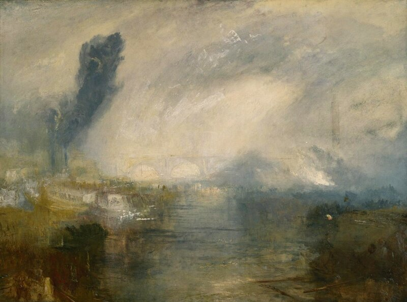 The Thames above Waterloo Bridge c.1830-5 by Joseph Mallord William Turner 1775-1851