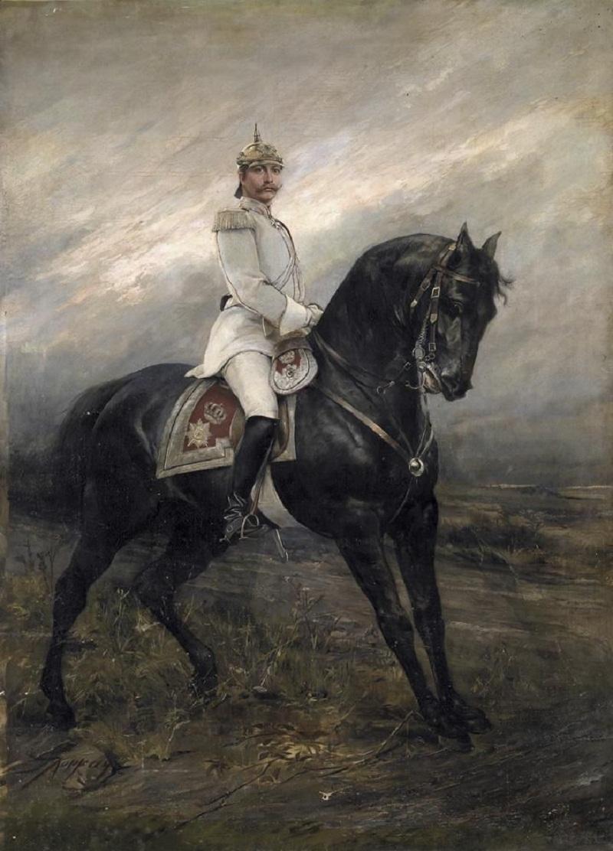 Kaiser Wilhelm II. zu Pferd (circa 1890).jpg