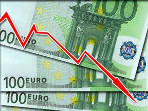 Курс евро по отношению к рублю упал на 43 копейки